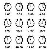 foto of clocks  - The Alarm clock icon - JPG