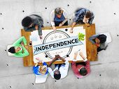 stock photo of independent woman  - Independence Liberty Peace Self Control Concept - JPG