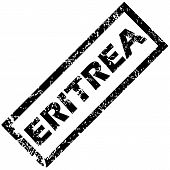 stock photo of eritrea  - Vector rubber stamp with name ERITREA - JPG