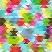 stock photo of color geometric shape  - Colorful Seamless Triangle Abstract Background - JPG