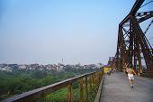 image of old bridge  - Old bridge in Ha Noi - JPG