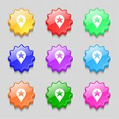 stock photo of gps  - Map pointer award GPS location icon sign - JPG