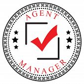 stock photo of confirmation  - Creative symbol of confirmation for the Agent or Manager - JPG