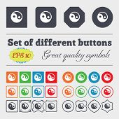 pic of ying yang  - Ying yang icon sign Big set of colorful diverse high - JPG