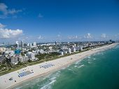 pic of drone  - Aerial Miami Beach drone photo taken over the ocean - JPG