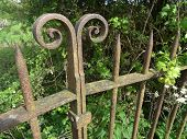 picture of crippled  - Rusty rural gateway photographed at Topsham in Devon - JPG