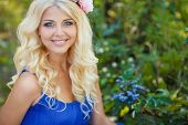 image of blue rose  - Portrait of a charming long - JPG