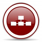 pic of cisco  - database red glossy web icon - JPG