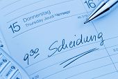 stock photo of adultery  - an appointment is entered on a calendar - JPG