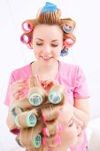 foto of pajamas  - Making wavy hair - JPG