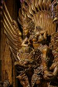 stock photo of hindu  - Shiva on Garuda statue of the Hindu In Nakhon Pathom Thailand - JPG