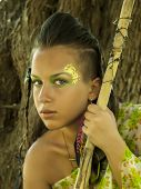 image of spears  - Amazon Girl with creative body - JPG