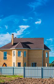 foto of gabled dormer window  - gable roof private residential new modern house with a window - JPG