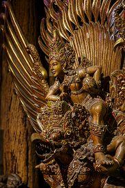 picture of garuda  - Shiva on Garuda statue of the Hindu In Nakhon Pathom Thailand - JPG