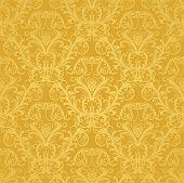 Luxury Seamless Golden Floral Wallpaper.eps