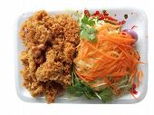 Catfish Spicy With Mango And Carrot Or Yam Pla Dook Foo