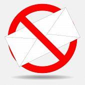 Постер, плакат: Ban Spam Letter
