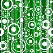 Seamless green background with circles