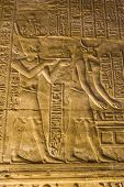 picture of horus  - Interior of the ancient egyptian Temple of Horus at Edfu - JPG