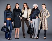 Five Girls. Autumn Winter Collection Lady's Clothes