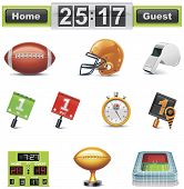 Vector American football / gridiron icon set