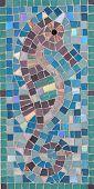 Mosaic Sea Horse Panel