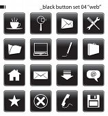 "Black Button Set 04 ""Web"""