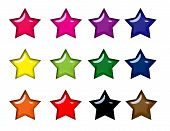 Colorful Glossy Star Icons