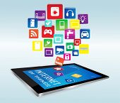 Постер, плакат: Tablet Pc And Internet Of Things Apps
