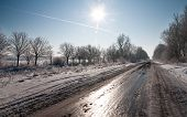 The road in ice