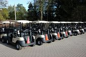 The Golf Cart Line-Up