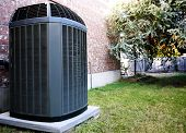 stock photo of air conditioner  - High efficiency modern AC - JPG