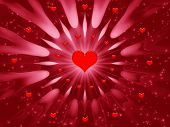 image of valentines day card  - abstraction pink background for design artwork for holidays  - JPG