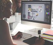 Graphic Designer Creativity Editor Ideas Designer Concept poster