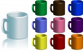 Coffee Mug Collection Vector