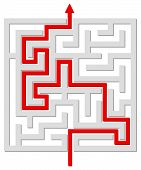 Solved labyrinth