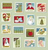 Large Set of Christmas Postage stamps