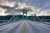 St. John's Bridge In Portland Oregon, Usa.