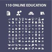 Постер, плакат: Education icons education concept education logo education background education icon learning v