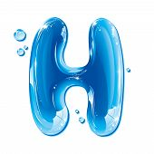 ABC series - Water Liquid Letter - Capital H