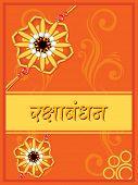vector illustration of greeting card for rakhi