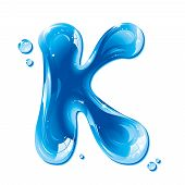ABC series - Water Liquid Letter - Capital K