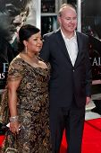 NEW YORK, NY - JULY 11: Director David Yates (R) and Yvonne Walcott attend the premiere of 'Harry Po
