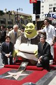 LOS ANGELES - MAY 20: Shrek; Mike Myers; Antonio Banderas at a ceremony where Shrek receives a star on the Hollywood Walk of Fame, Los Angeles, California on May 20, 2010