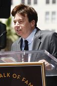 LOS ANGELES - MAY 20: Mike Myers at a ceremony where Shrek receives a star on the Hollywood Walk of Fame, Los Angeles, California on May 20, 2010