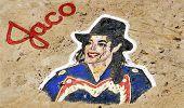SANTA CRUZ DE TENERIFE, SPAIN - JUNE 18: A Michael Jackson graffiti on a stone of a breakwater on June 18, 2011 in Santa Cruz de Tenerife, Spain. tribute to the King of Pop, died on June 25, 2009.