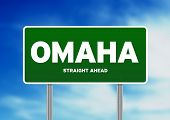 Omaha, Nebraska Highway Sign