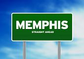 picture of memphis tennessee  - Green Memphis Tennessee USA highway sign on Cloud Background - JPG