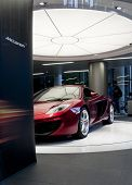 LONDON, UK - JUNE 22: The McLaren MP4-12C in the new McLaren showroom on Knightsbridge on June 22, 2