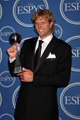 LOS ANGELES - JUL 13:  Dirk Nowitzki in the Press Room of the 2011 ESPY Awards at Nokia Theater at L